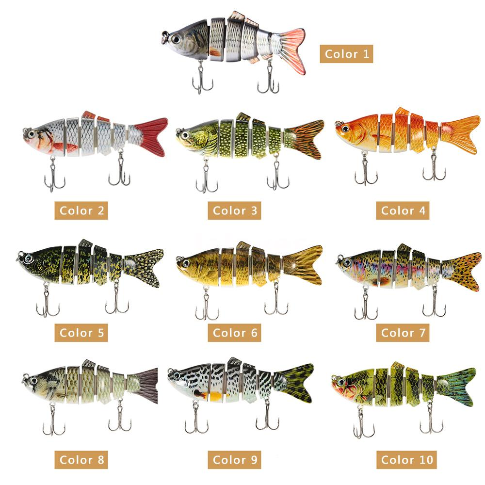 Lifelike 6 jointed minnow fishing lures deep diving bass for Types of fish bait