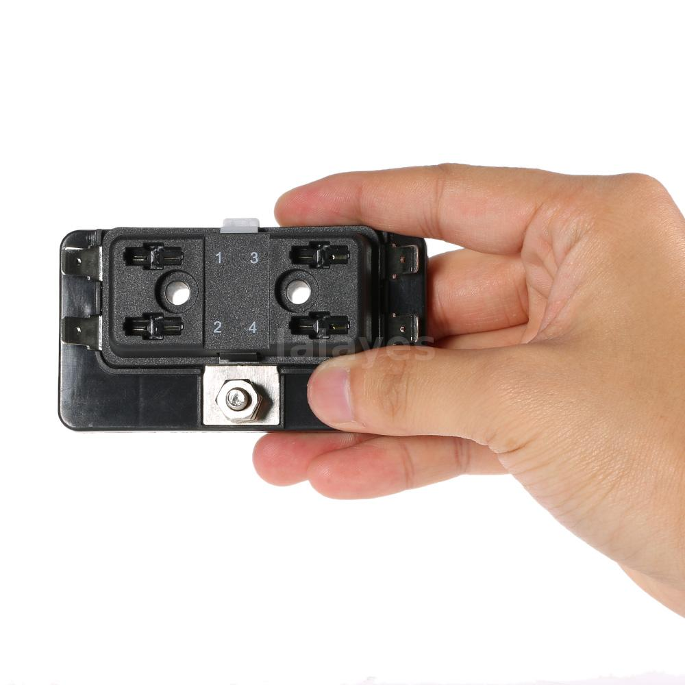 universal 4 way mini blade fuse box holder apm atm 5a 10a 25a for car trike f7m5 ebay