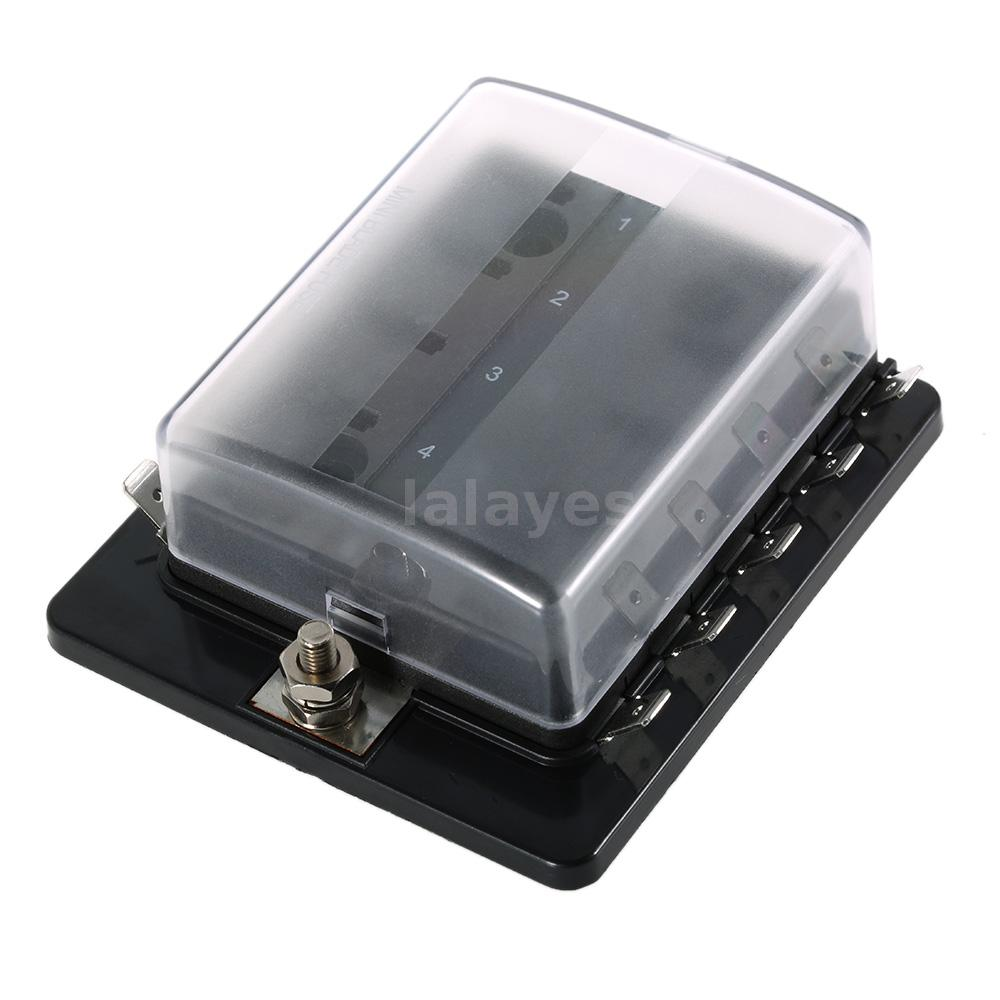 Mini Marine Fuse Box Wiring Diagrams 12 Volt For Boat 10 Way Blade Holder 5a 10a 25a Car Bayliner