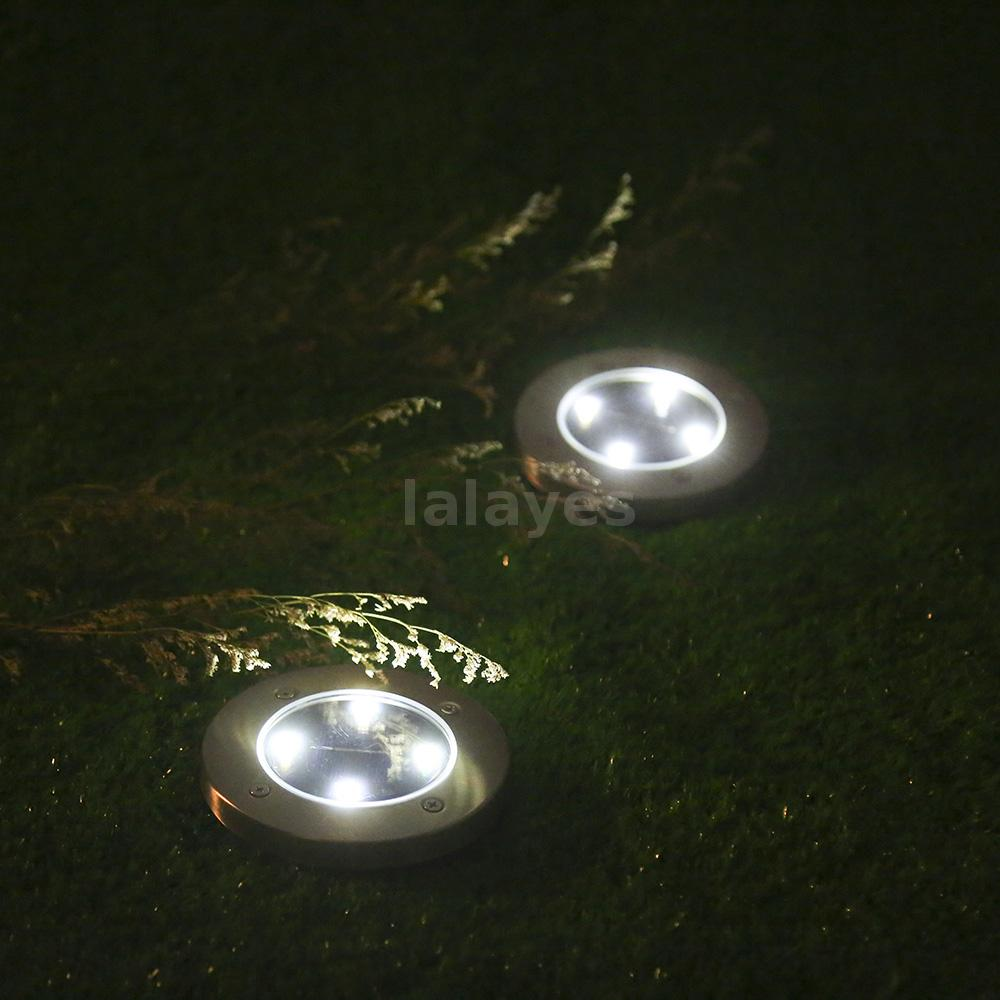 4pcs outdoor lighting solar light landscape pathway ground for In ground walkway lights