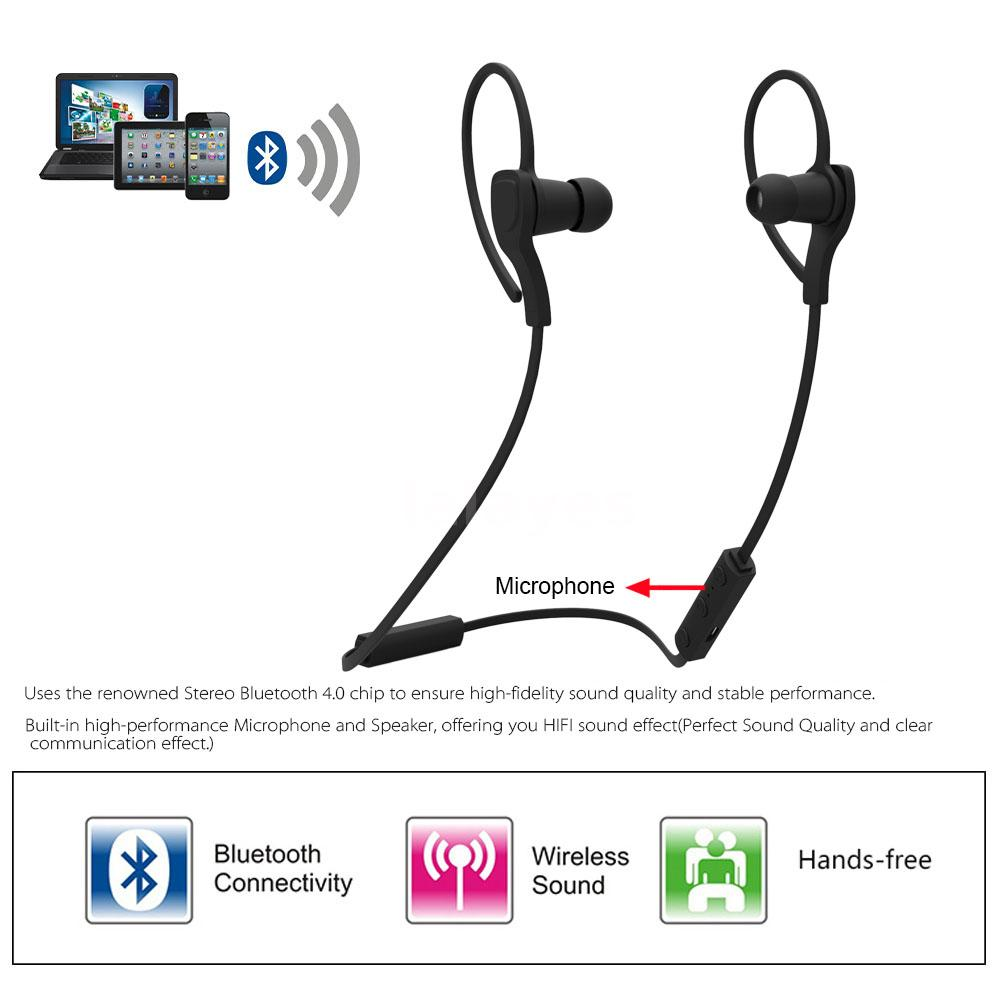 sport bluetooth in ear headset kopfh rer stereo kabellos. Black Bedroom Furniture Sets. Home Design Ideas